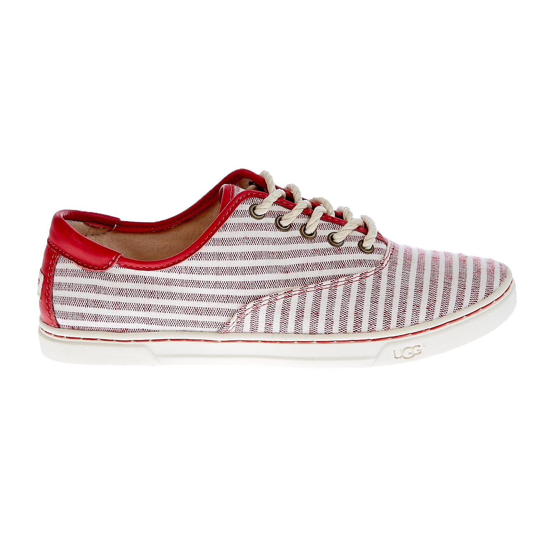 UGG AUSTRALIA - Γυναικεία παπούτσια Ugg Australia κόκκινα-λευκά γυναικεία παπούτσια μοκασίνια μπαλαρίνες μοκασίνια