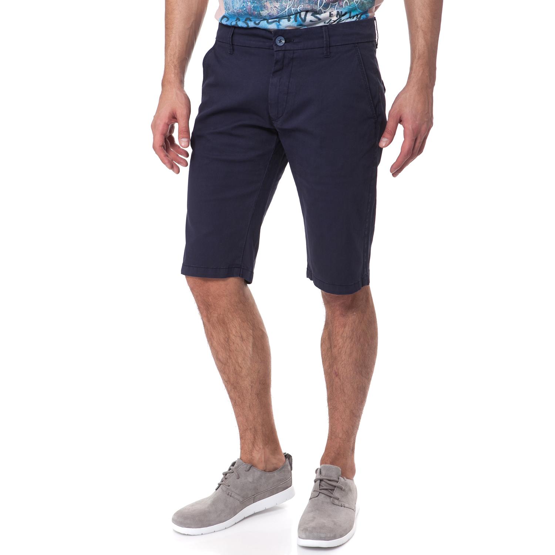 GAS - Ανδρική βερμούδα Gas μπλε ανδρικά ρούχα σορτς βερμούδες casual jean
