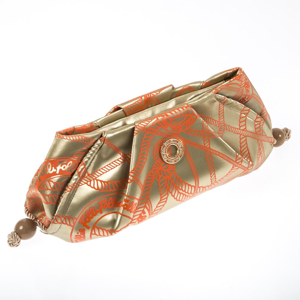 FOLLI FOLLIE – Γυναικεία τσάντα φάκελος Folli Follie χρυσαφί