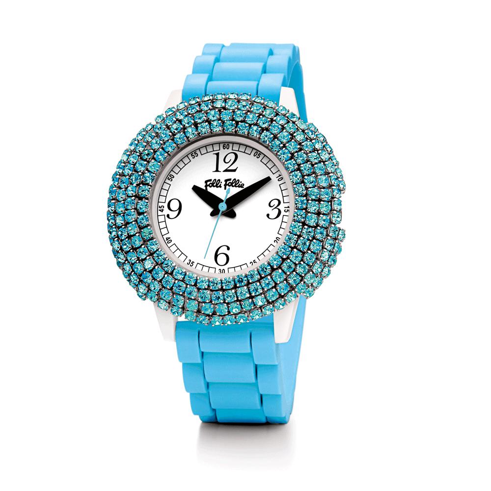 FOLLI FOLLIE – Γυναικείο ρολόι Folli Follie γαλάζιο