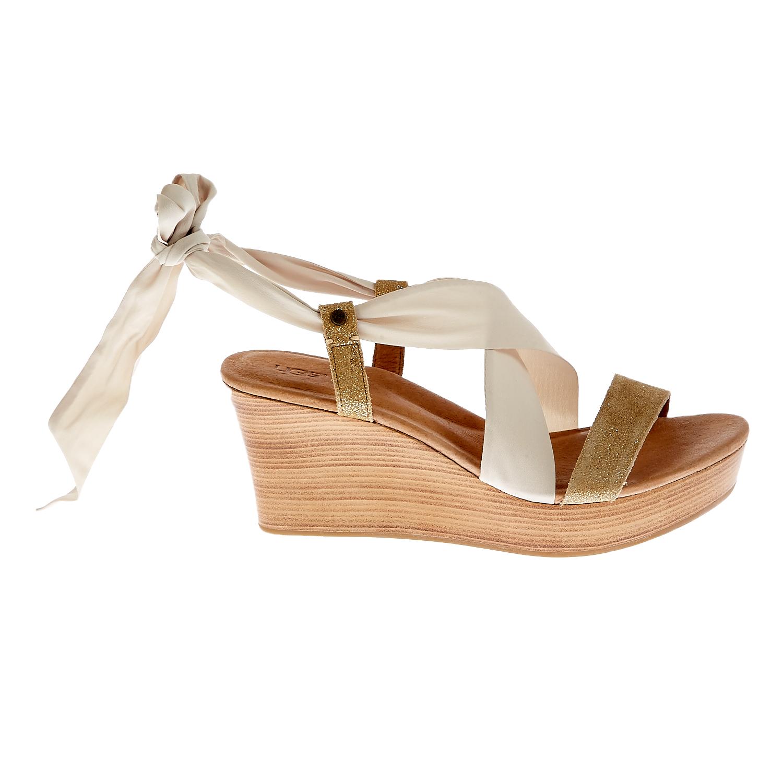 UGG AUSTRALIA - Γυναικείες πλατφόρμες Ugg Australia καφέ-εκρού γυναικεία παπούτσια πλατφόρμες
