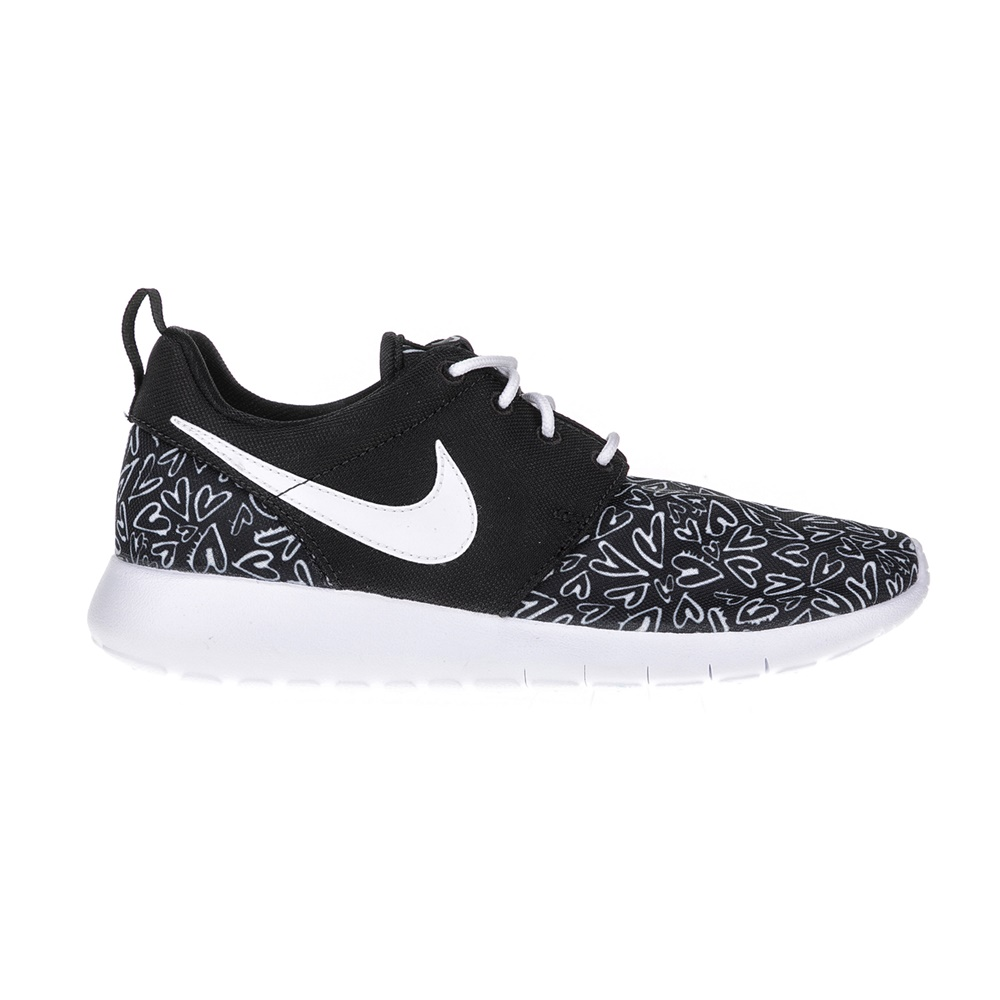 NIKE – Παιδικά παπούτσια NIKE ROSHE ONE PRINT (GS) μαύρα – λευκά