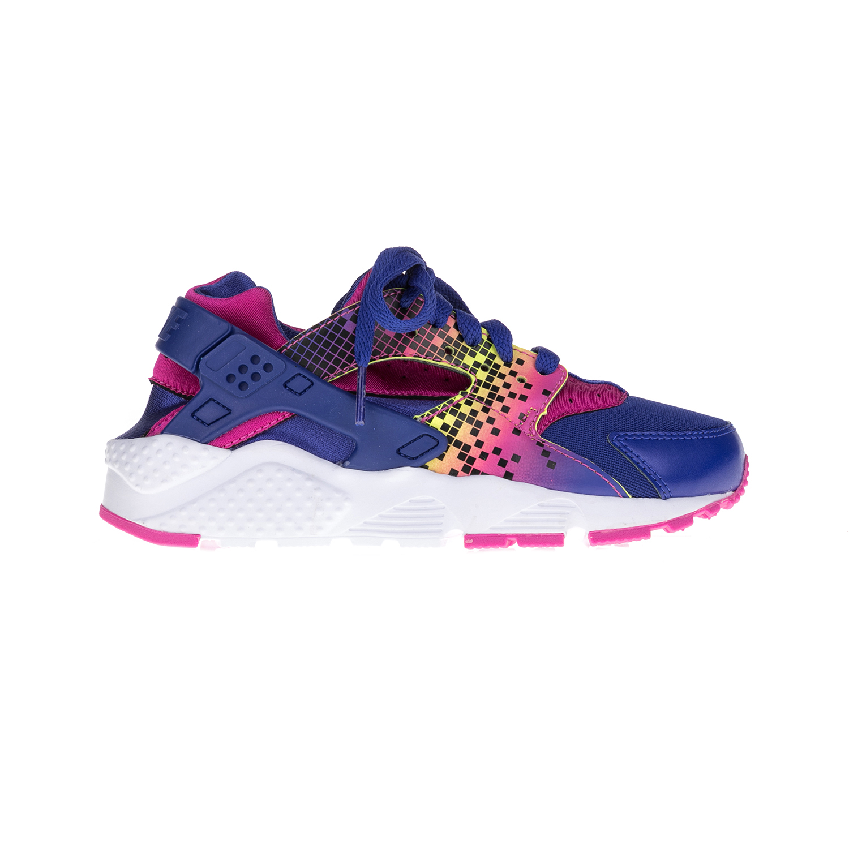 NIKE – Παιδικά παπούτσια NIKE HUARACHE RUN PRINT μπλε-ροζ