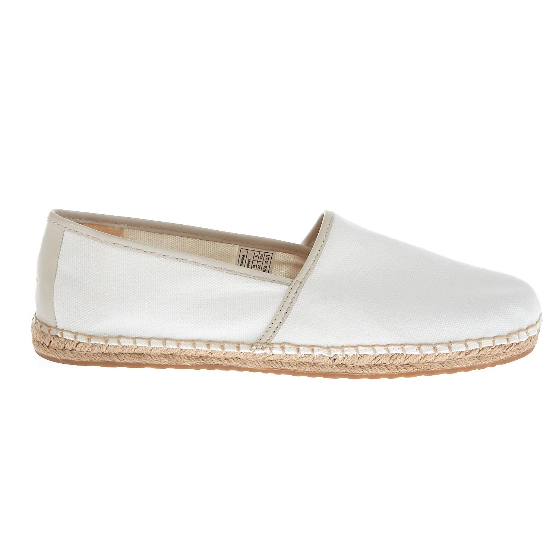 UGG AUSTRALIA - Ανδρικές εσπαντρίγιες Ugg Australia λευκές ανδρικά παπούτσια μοκασίνια loafers