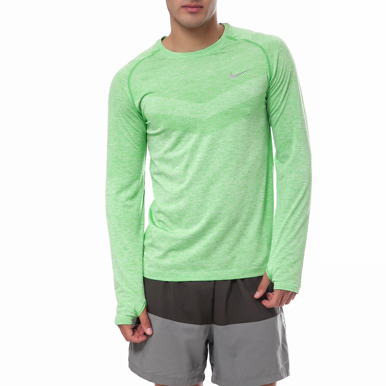 NIKE - Ανδρική μπλούζα Nike πράσινη ανδρικά ρούχα αθλητικά φούτερ μακρυμάνικα