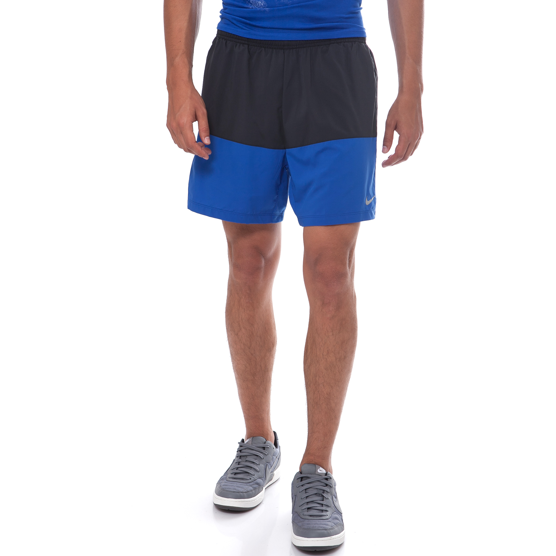 NIKE - Ανδρικό σορτς Nike μαύρο-μπλε ανδρικά ρούχα σορτς βερμούδες αθλητικά