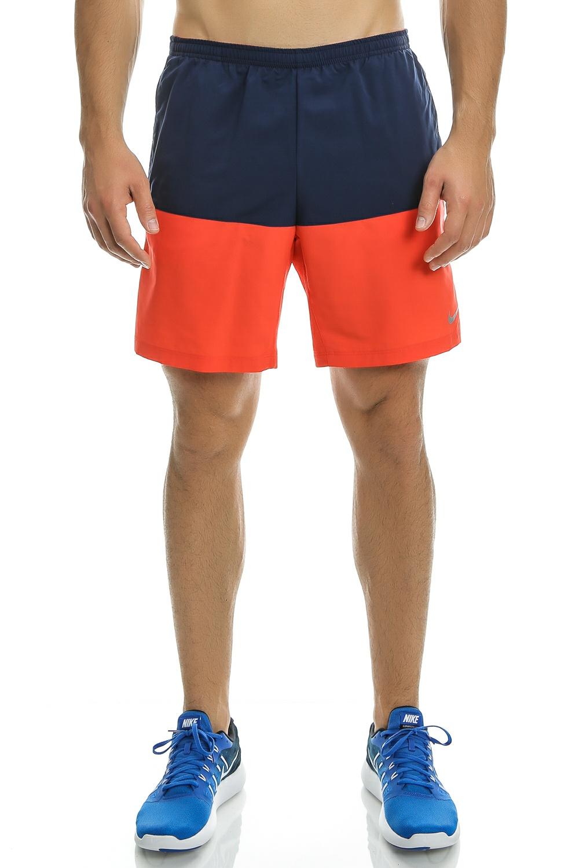 NIKE – Ανδρικό αθλητικό σορτς Nike 7″ DISTANCE SHORT (SP15) πορτοκαλί – μπλε