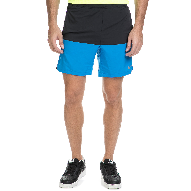 "NIKE - Ανδρικό σορτς ΝΙΚΕ 7"" DISTANCE SHORT (SP15) μαύρο-μπλε ανδρικά ρούχα σορτς βερμούδες αθλητικά"