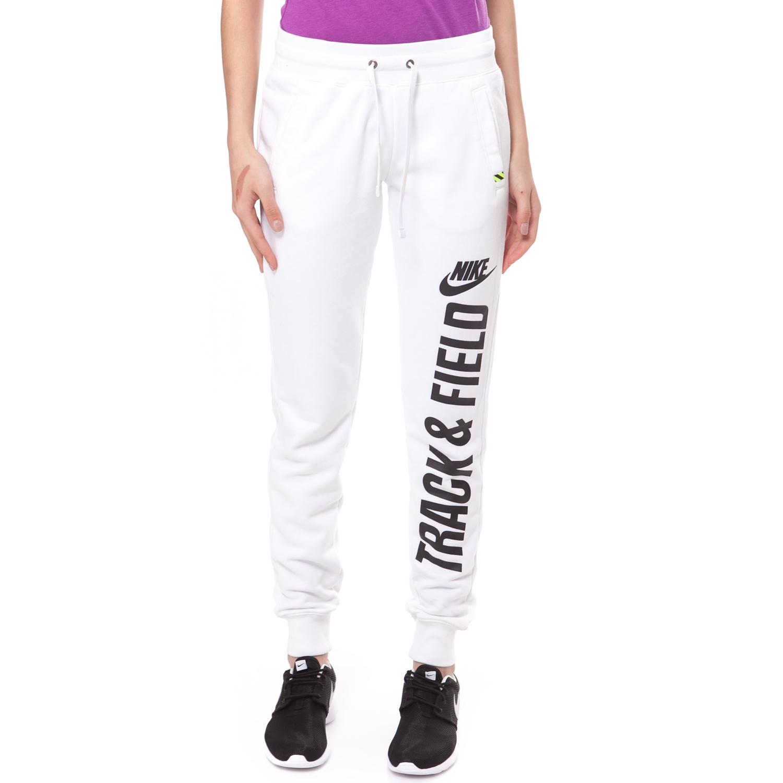 NIKE - Γυναικείο παντελόνι φόρμας NIKE RU NTF CUFF PANT λευκό γυναικεία ρούχα αθλητικά φόρμες