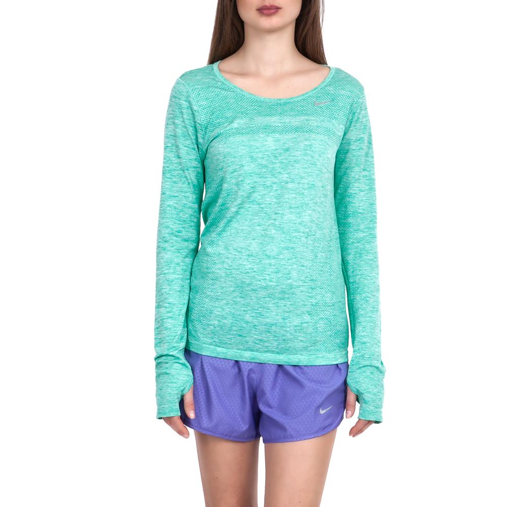 NIKE – Γυναικεία μπλούζα Nike πράσινη-γαλάζια