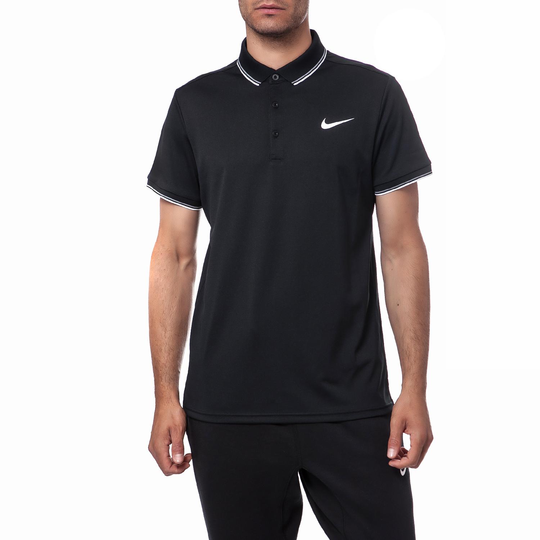 NIKE - Ανδρική μπλούζα Nike μαύρη ανδρικά ρούχα μπλούζες πόλο