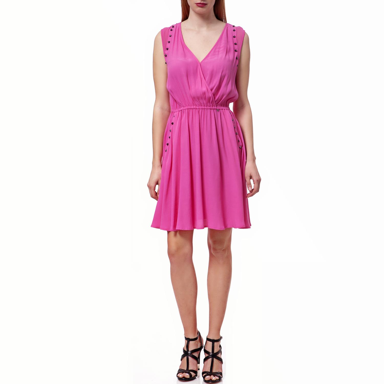 GUESS - Γυναικείο φόρεμα Guess φούξια γυναικεία ρούχα φορέματα μίνι
