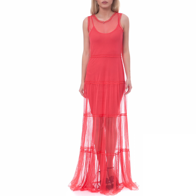 GUESS - Γυναικείο φόρεμα Guess κοραλί γυναικεία ρούχα φορέματα μάξι