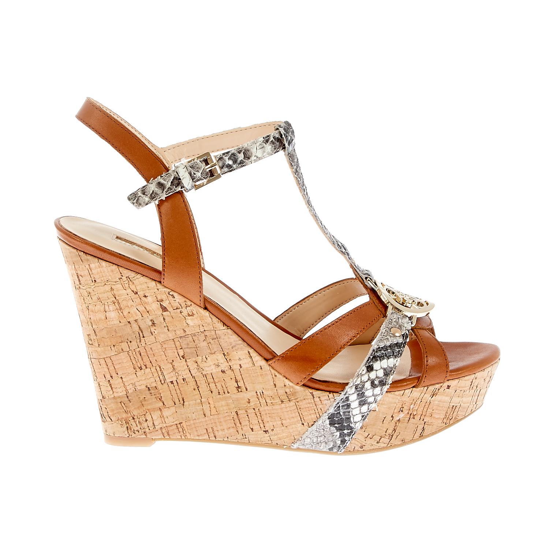 GUESS - Γυναικείες πλατφόρμες Guess καφέ γυναικεία παπούτσια πλατφόρμες