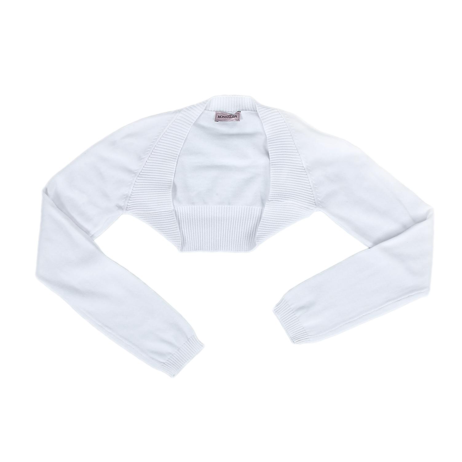 MONNALISA - Παιδικό μπολερό MONNALISA λευκό παιδικά girls ρούχα πλεκτά ζακέτες