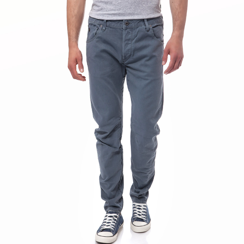 G-STAR RAW - Ανδρικό παντελόνι G-Star Raw μπλε-ανθρακί ανδρικά ρούχα παντελόνια casual