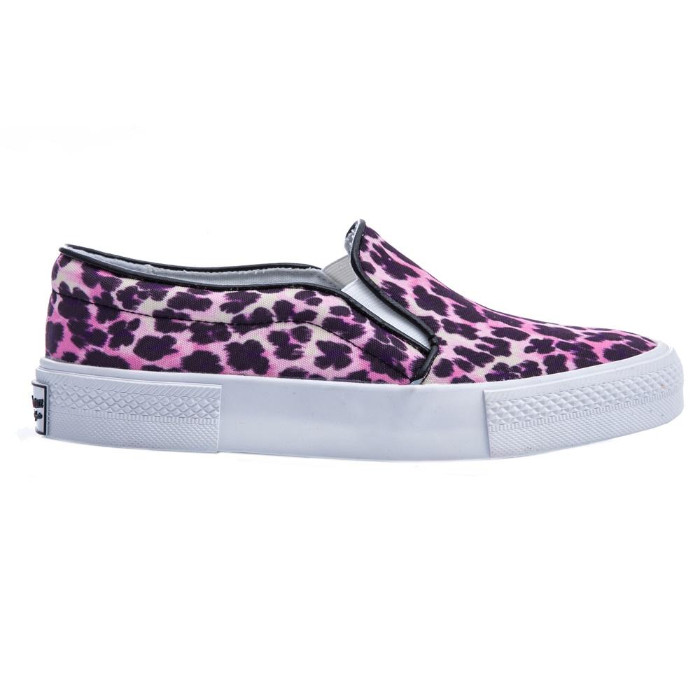 JUICY COUTURE - Γυναικεία παπούτσια Juicy Couture ροζ-μαύρα γυναικεία παπούτσια μοκασίνια μπαλαρίνες μοκασίνια