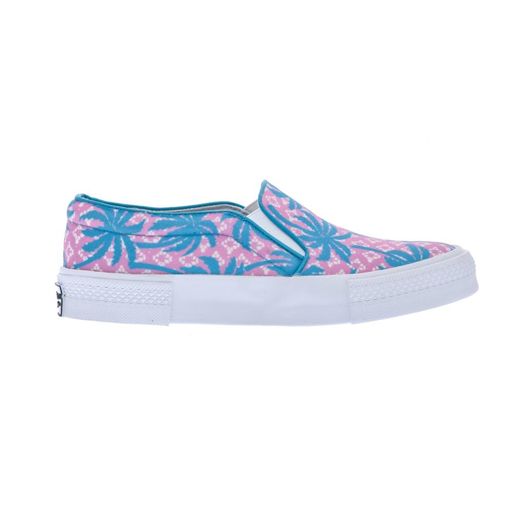 JUICY COUTURE - Γυναικεία παπούτσια Juicy Couture ροζ-γαλάζια γυναικεία παπούτσια μοκασίνια μπαλαρίνες μοκασίνια