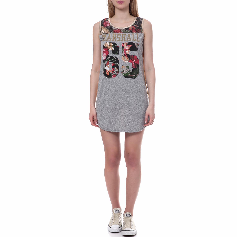 FRANKLIN & MARSHALL - Γυναικείο φόρεμα Franklin & Marshall γκρι γυναικεία ρούχα φορέματα μίνι