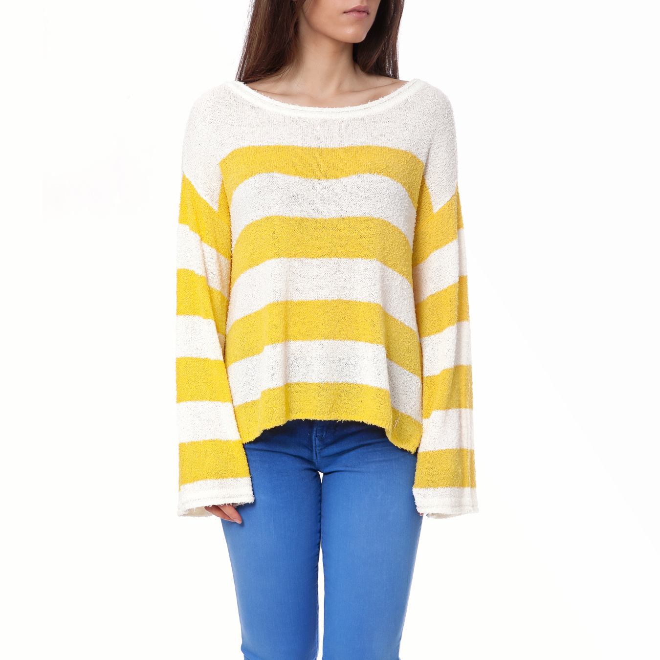 JUICY COUTURE - Γυναικείο πουλόβερ Juicy Couture κίτρινο γυναικεία ρούχα πλεκτά ζακέτες πουλόβερ