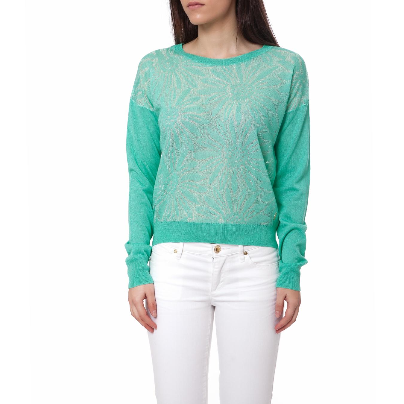 JUICY COUTURE - Γυναικείο πουλόβερ Juicy Couture πράσινο γυναικεία ρούχα πλεκτά ζακέτες πουλόβερ