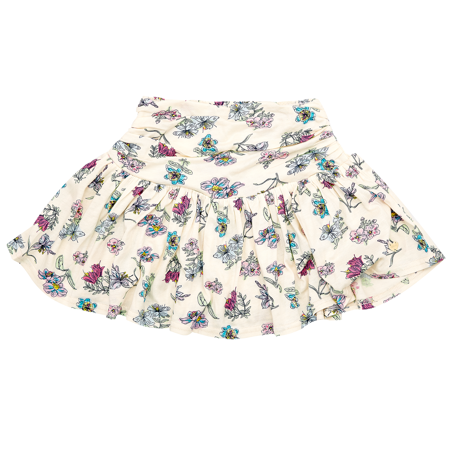 JUICY COUTURE KIDS – Παιδική φούστα JUICY COUTURE ημίλευκη