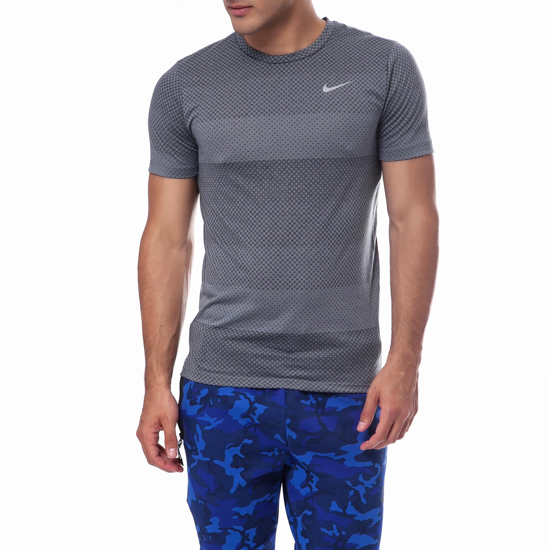 NIKE - Ανδρική μπλούζα Nike ανθρακί ανδρικά ρούχα αθλητικά t shirt
