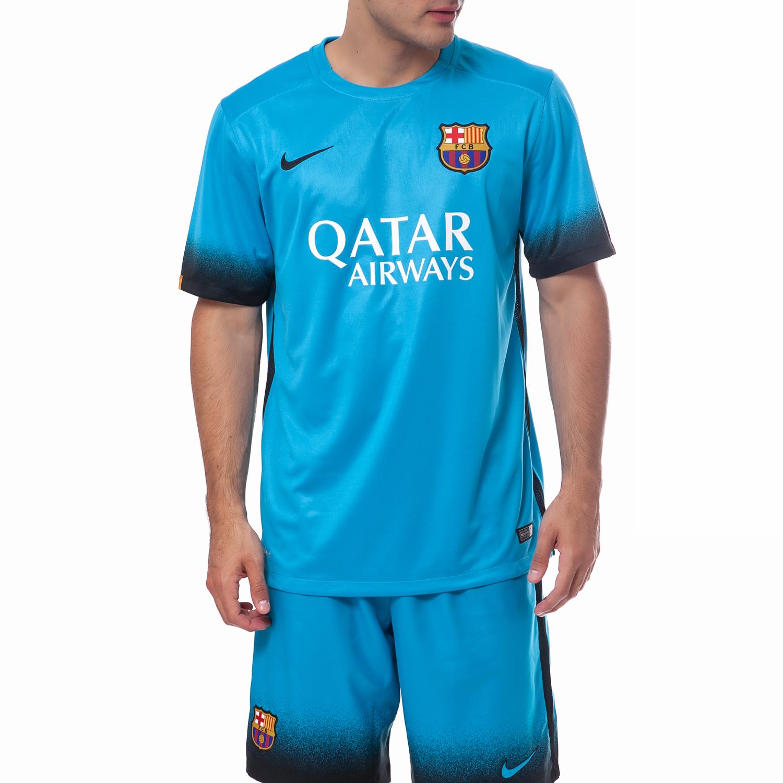 NIKE - Ανδρική μπλούζα Nike FC Barcelona μπλε ανδρικά ρούχα αθλητικά t shirt