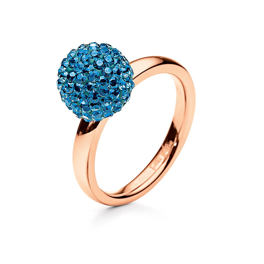 FOLLI FOLLIE - Δαχτυλίδι Folli Follie μπλε 5377da2b1f3