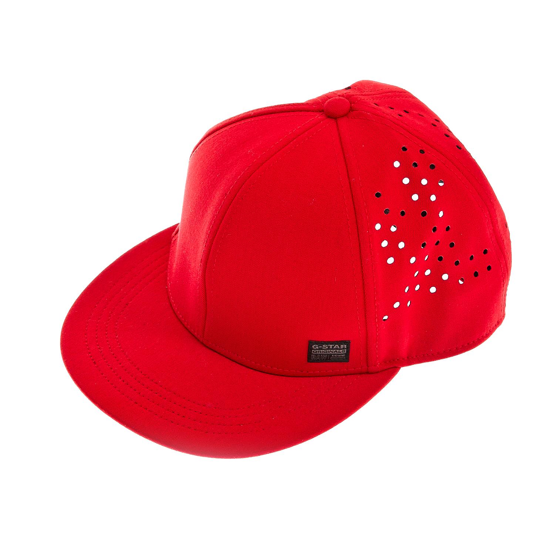G-STAR RAW - Ανδρικό καπέλο τζόκεϋ G-Star Raw κόκκινο ανδρικά αξεσουάρ καπέλα casual