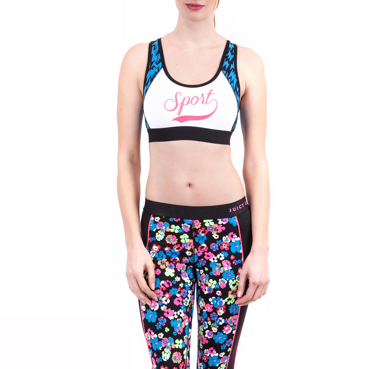 JUICY COUTURE - Γυναικείο μπουστάκι Juicy Couture λευκό γυναικεία ρούχα αθλητικά μπουστάκια