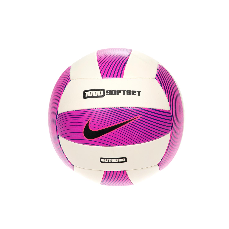 NIKE – Μπάλα βόλεϊ NIKE 1000 SOFTSET OUTDOOR άσπρη-ροζ