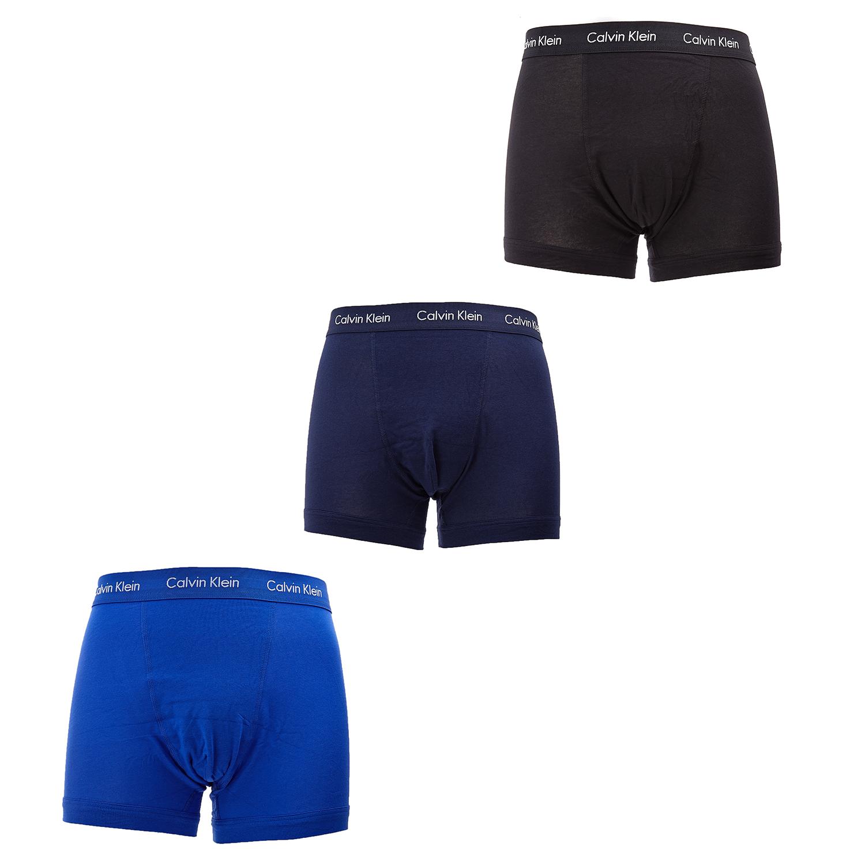 CK UNDERWEAR - Σετ μπόξερ Calvin Klein μπλε ανδρικά ρούχα εσώρουχα μπόξερ