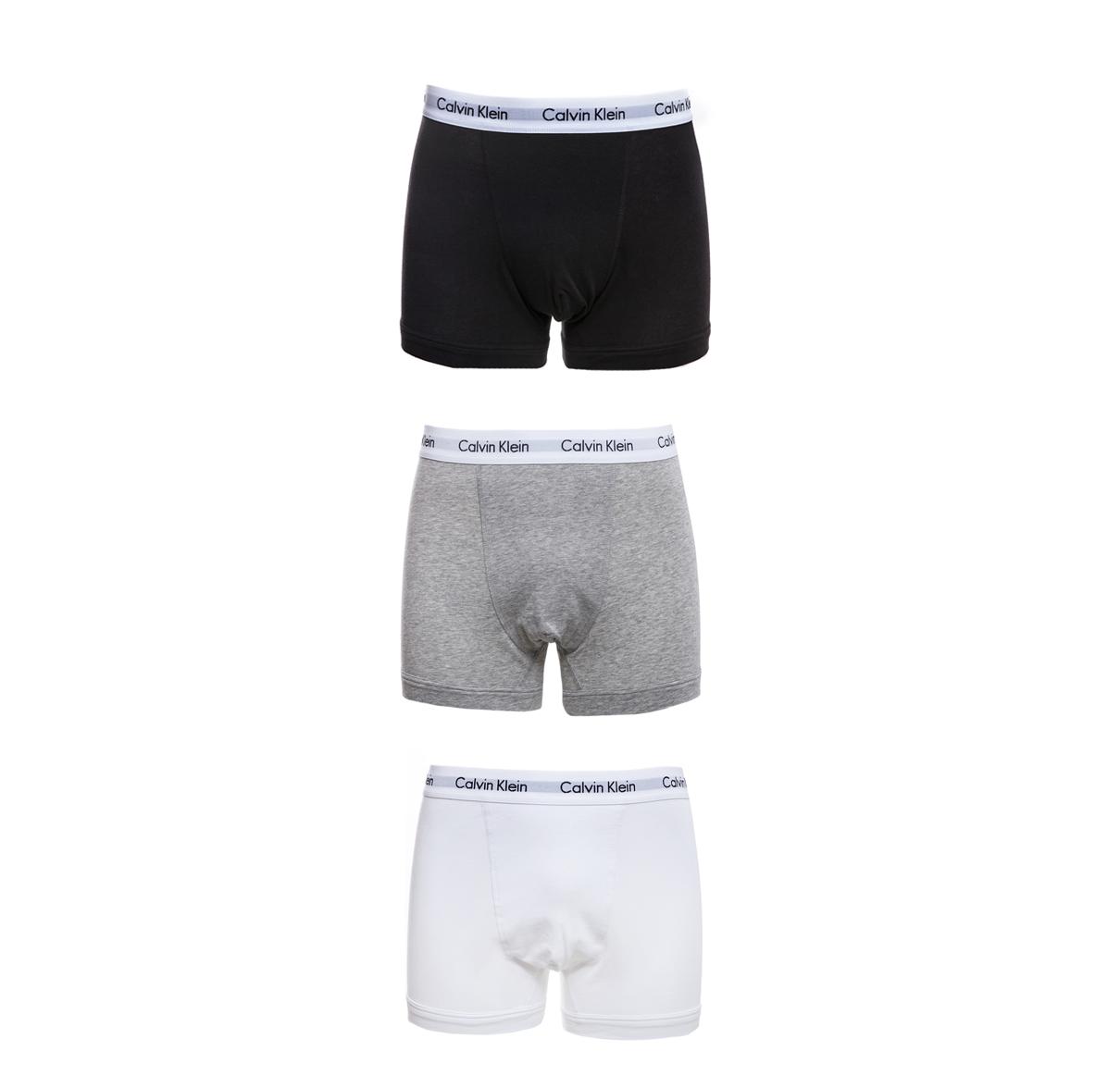 CK UNDERWEAR - Σετ μπόξερ Calvin Klein μαύρο-γκρι-λευκό ανδρικά ρούχα εσώρουχα μπόξερ
