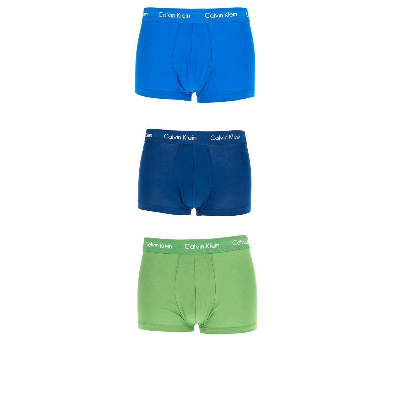 CK UNDERWEAR – Ανδρικό σετ μπόξερ Calvin Klein μπλε-πράσινα