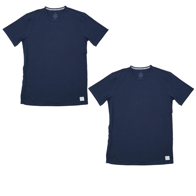 CK UNDERWEAR - Σετ φανέλες Calvin Klein μπλε ανδρικά ρούχα εσώρουχα φανέλες