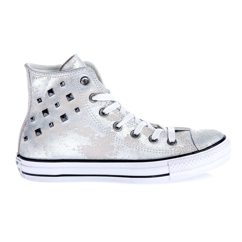 8f567adb507 CONVERSE - Γυναικεία παπούτσια Chuck Taylor All Star Hardware ασημί απόχρωση