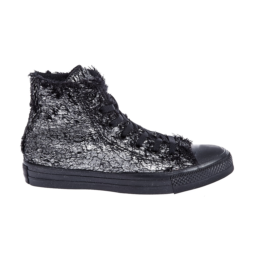 CONVERSE - Γυναικεία παπούτσια Chuck Taylor All Star Material μαύρα-ασημί d099dc52385