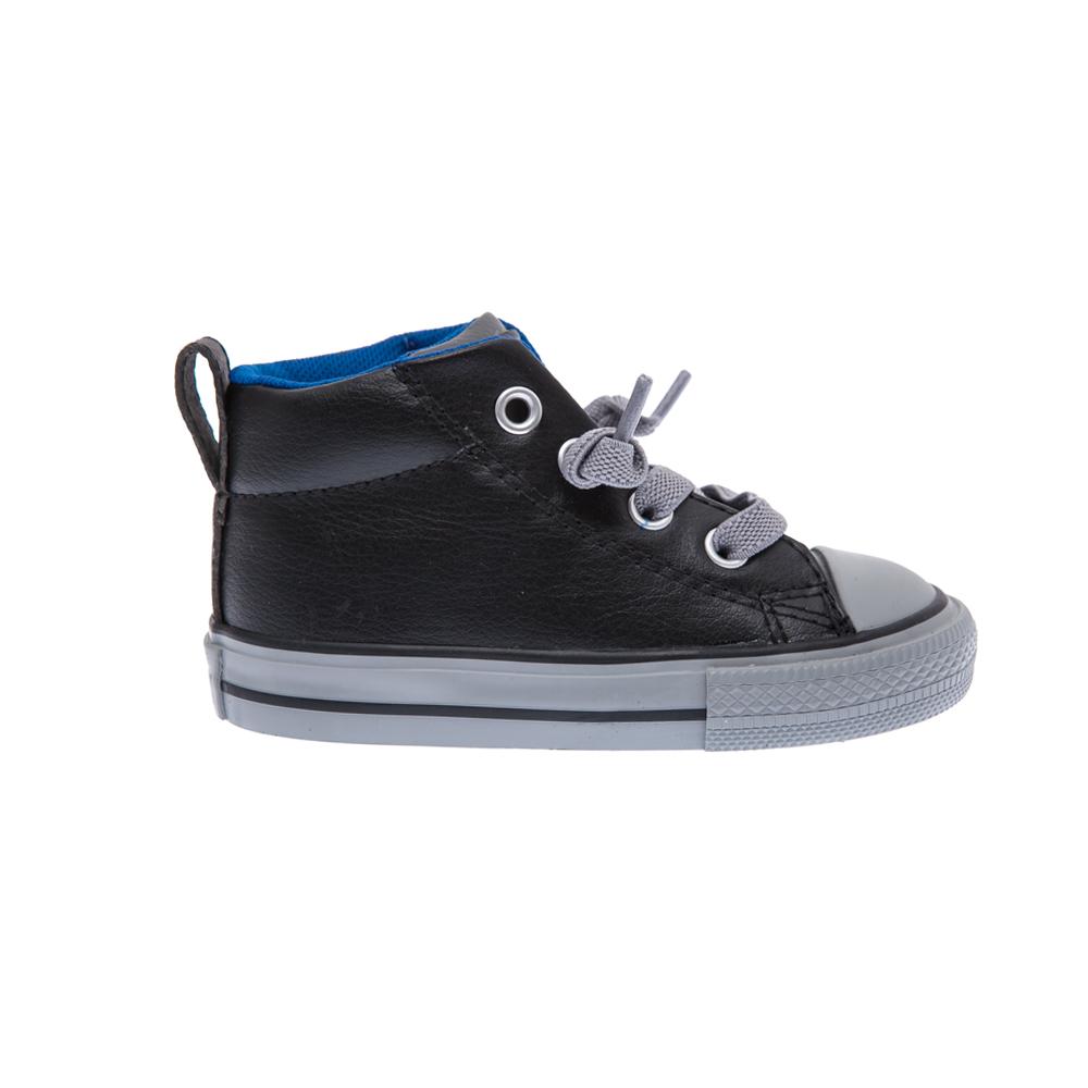CONVERSE – Βρεφικά παπούτσια Chuck Taylor All Star Street μαύρα-γκρι