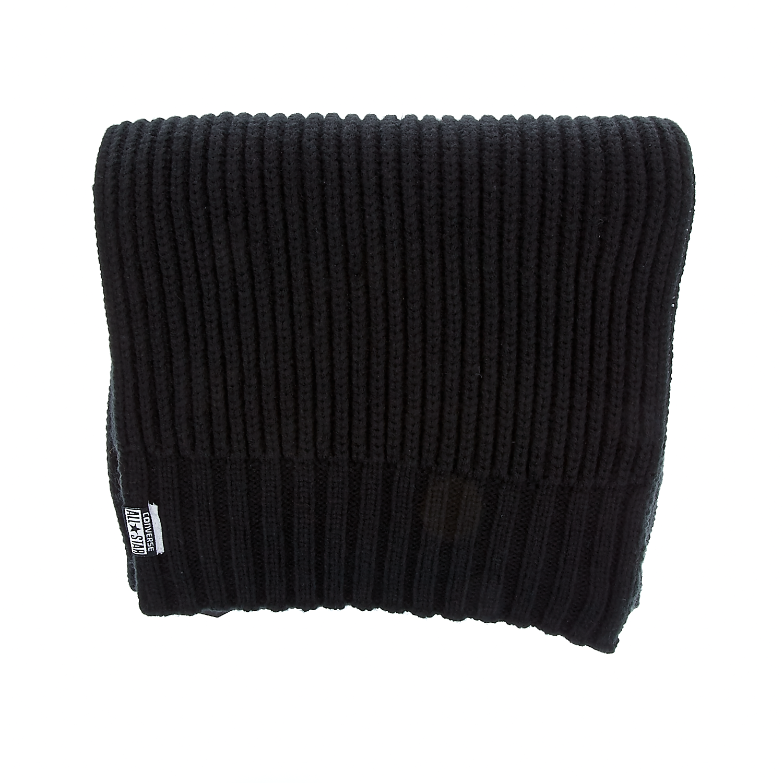 CONVERSE - Unisex κασκόλ Converse μαύρο ανδρικά αξεσουάρ φουλάρια κασκόλ γάντια