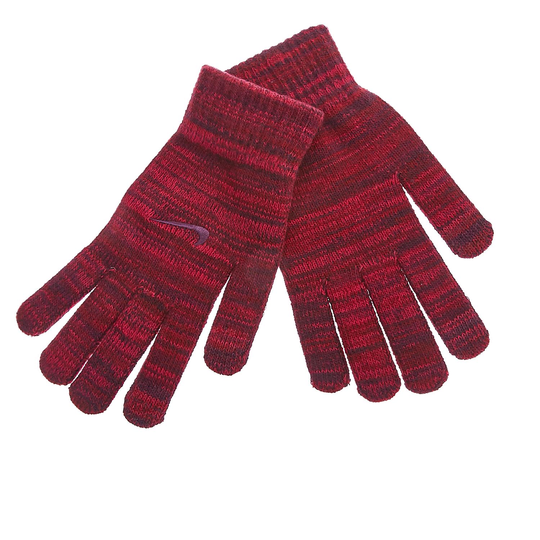 NIKE - Γάντια Nike μπορντώ γυναικεία αξεσουάρ φουλάρια κασκόλ γάντια
