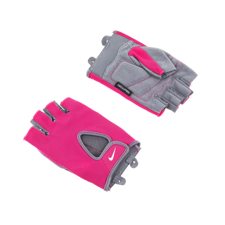 NIKE – Γυναικεία γάντια προπόνησης N.LG.90.MD WOMENS FUNDAMENTAL ροζ-γκρι