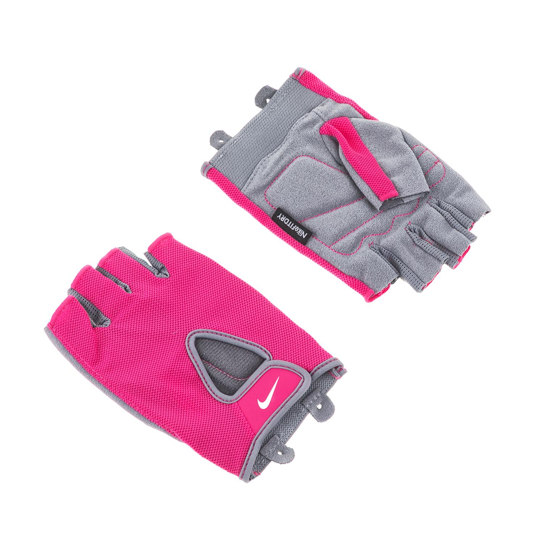 NIKE – Γυναικεία γάντια προπόνησης N.LG.90.LG WOMENS FUNDAMENTAL ροζ-γκρι