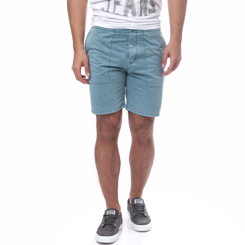 CALVIN KLEIN JEANS - Ανδρική βερμούδα Calvin Klein Jeans μπλε-γκρι ανδρικά ρούχα σορτς βερμούδες casual jean