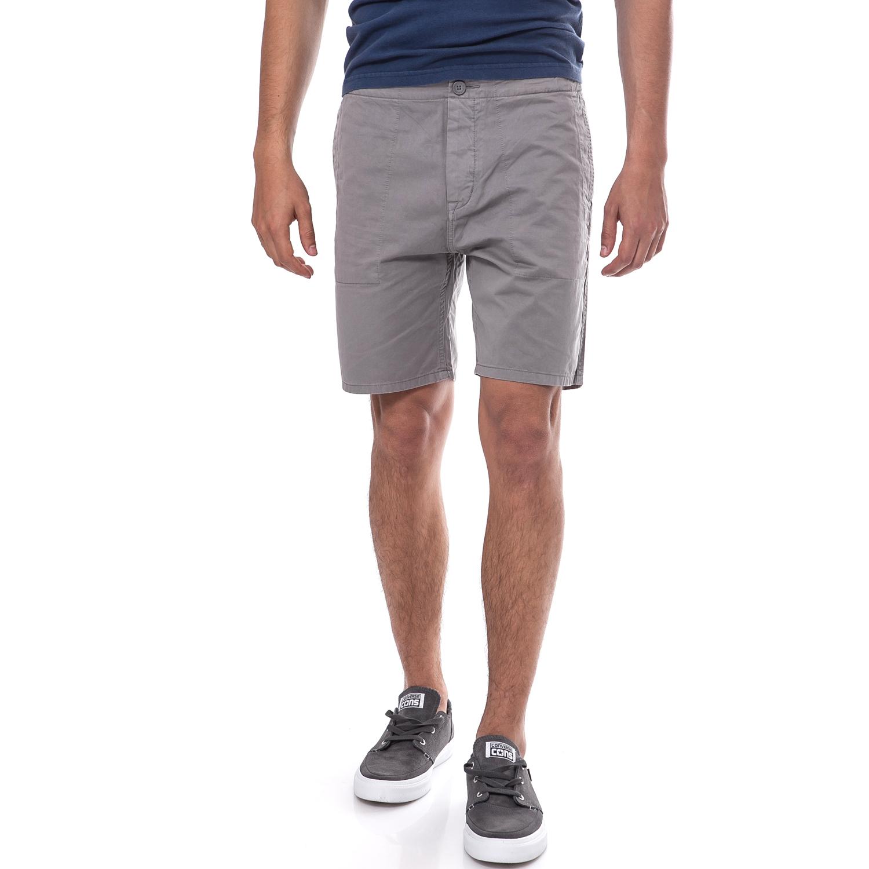 CALVIN KLEIN JEANS - Ανδρική βερμούδα Calvin Klein Jeans γκρι ανδρικά ρούχα σορτς βερμούδες casual jean