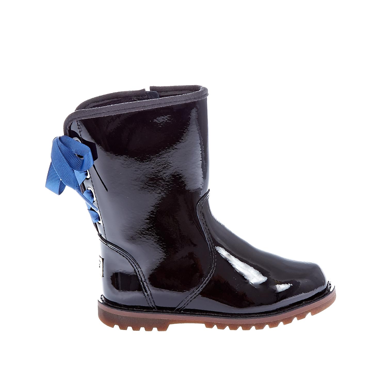 UGG - Βρεφικά Ugg Australia μαύρα παιδικά baby παπούτσια μπότες μποτάκια