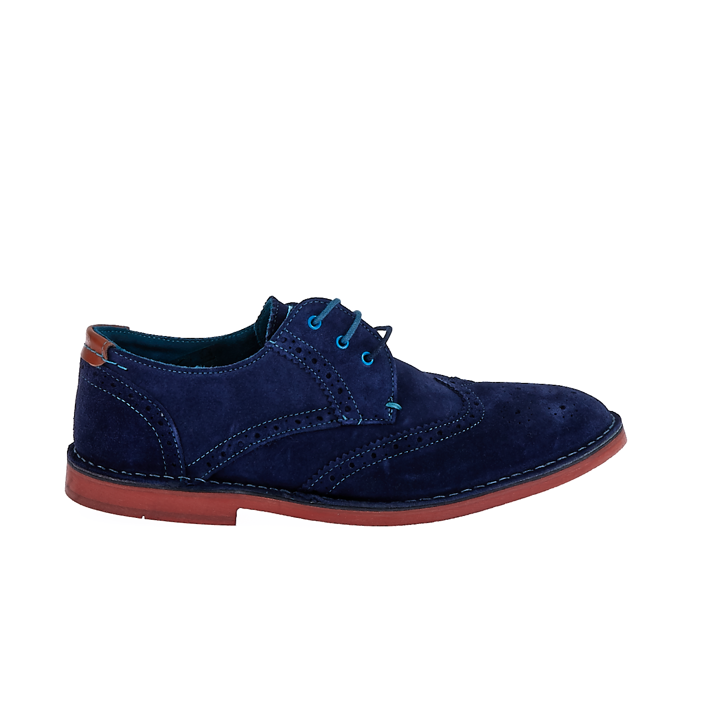 TED BAKER - Ανδρικά παπούτσια JAMFRO 6 Ted Baker μπλε ανδρικά παπούτσια μοκασίνια loafers