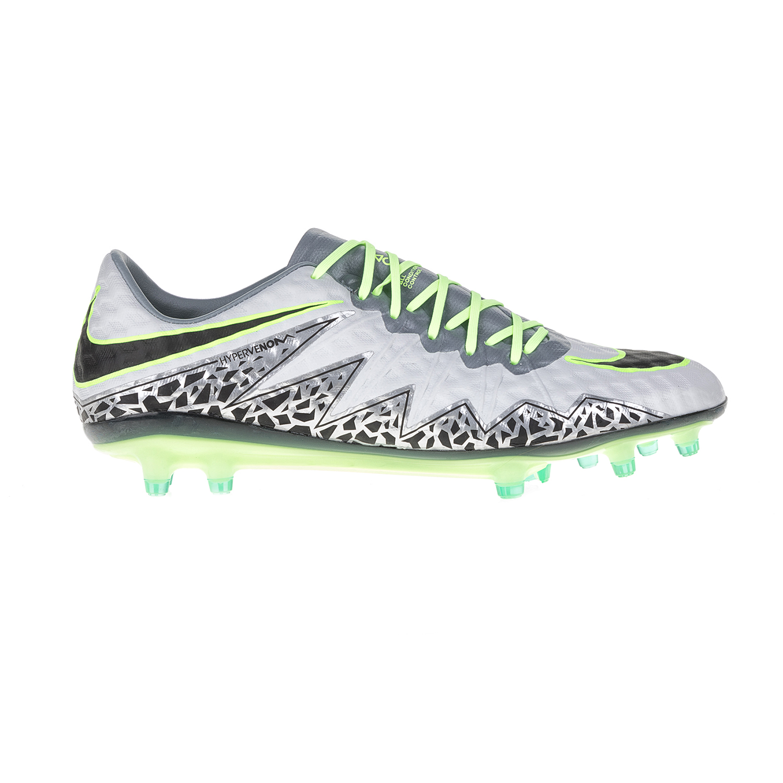 NIKE - Ανδρικά ποδοσφαιρικά παπούτσια ΝΙΚΕ HYPERVENOM PHINISH FG γκρι ανδρικά παπούτσια αθλητικά football
