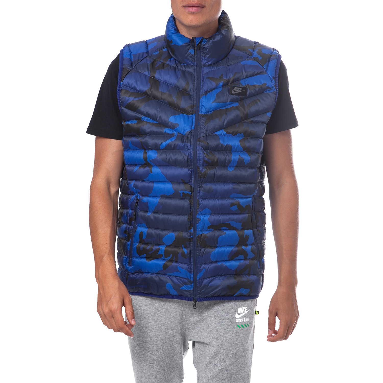 NIKE - Ανδρικό μπουφάν Nike μπλε ανδρικά ρούχα πανωφόρια γιλέκα