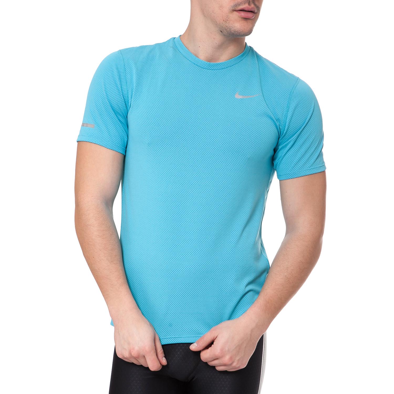 NIKE - Ανδρικό t-shirt NIKE DRI-FIT CONTOUR τυρκουάζ ανδρικά ρούχα αθλητικά t shirt